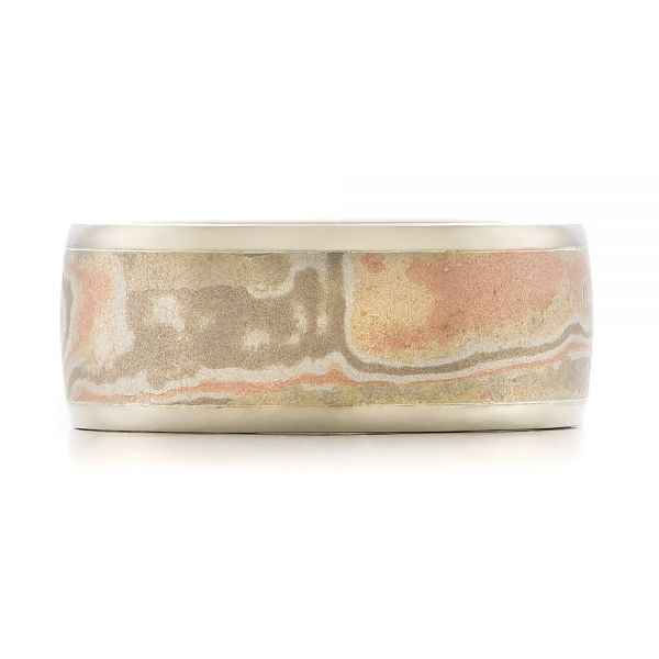 Custom Men's Mokume Wedding Band - Top View -