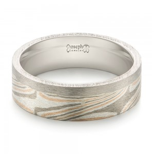 Custom Mokume Inlay Men's Band