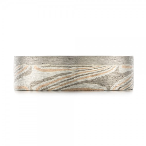 Custom Mokume Inlay Men's Band - Top View