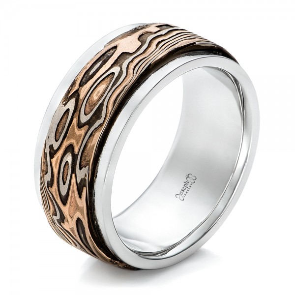 Custom Mokume Men's Wedding Band