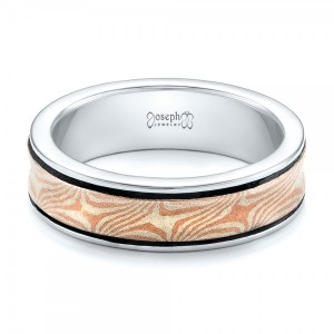 Custom Mokume Wedding Band