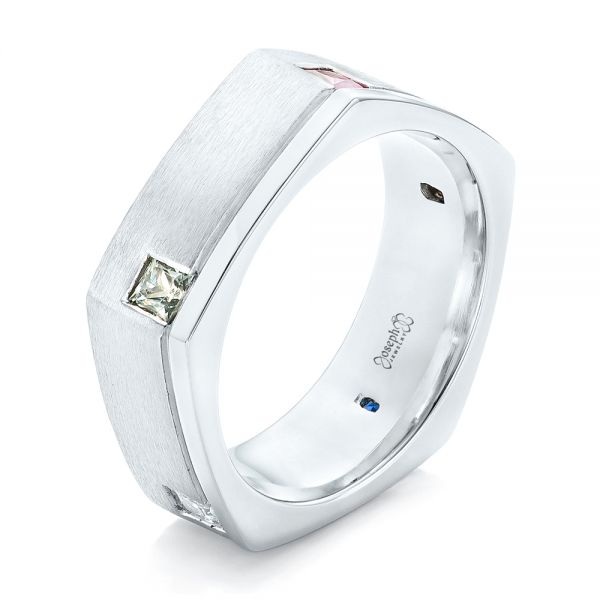 Custom Multi-Color Sapphire Men's Band - Image
