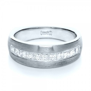 Custom Platinum Diamond Men's Band