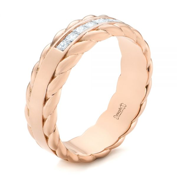Custom Rose Gold Diamond Band