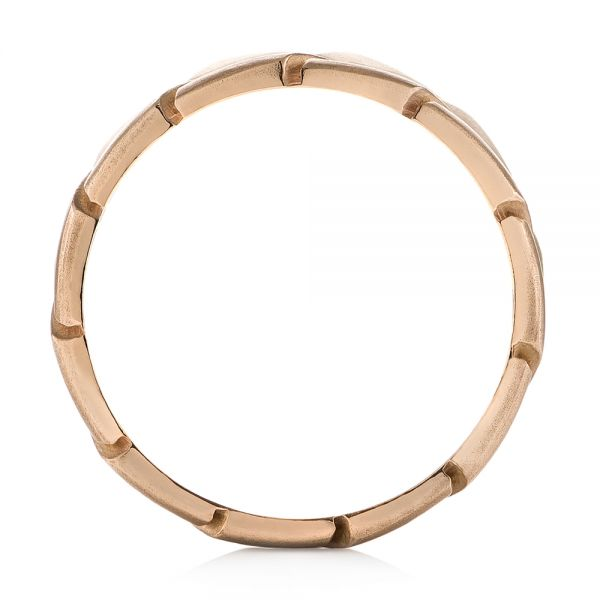 14k Rose Gold Custom Men's Band - Front View -