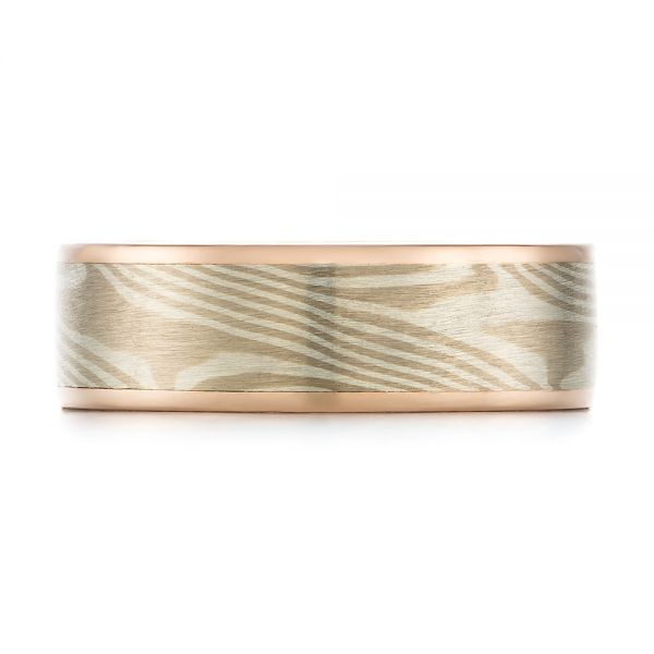 Custom Mokume Men's Band - Top View -  103646