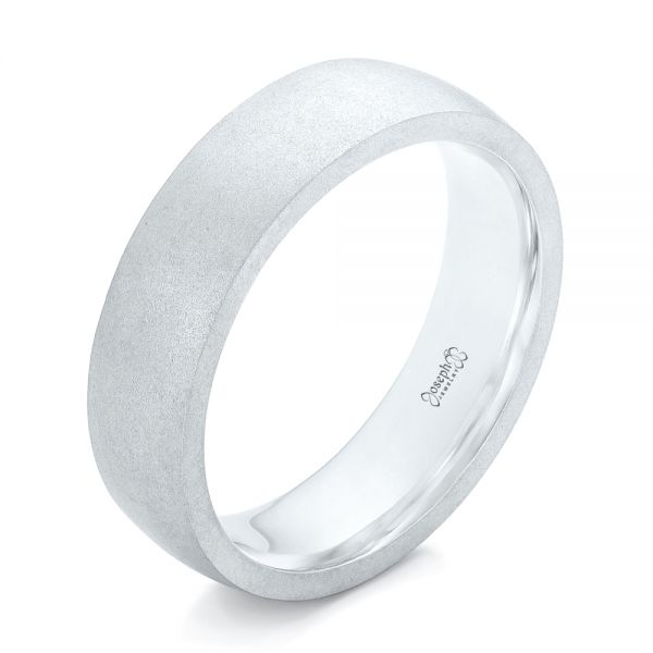 Custom Sandblasted Men's Wedding Band - Image
