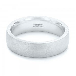 Custom Sandblasted Men's Wedding Band