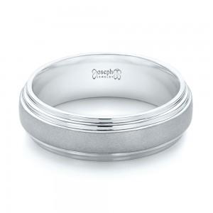 custom sandblasted mens wedding band - Platinum Wedding Rings For Women