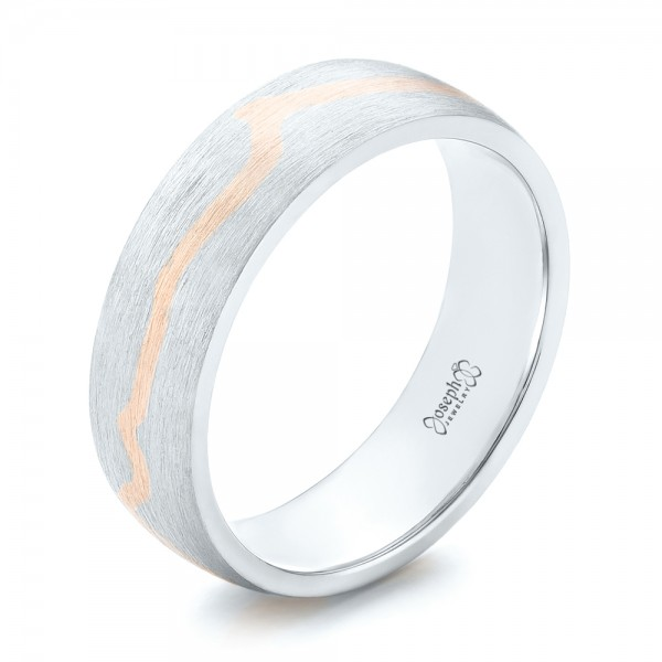 Custom Two-Tone Brushed Men's Band