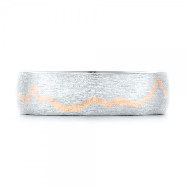 Custom Two-Tone Brushed Men's Band - Top View