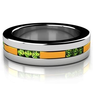 Custom Two-Tone Emerald Unisex Band