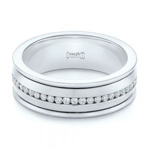 Custom Two-Tone Eternity Diamond Men's Band