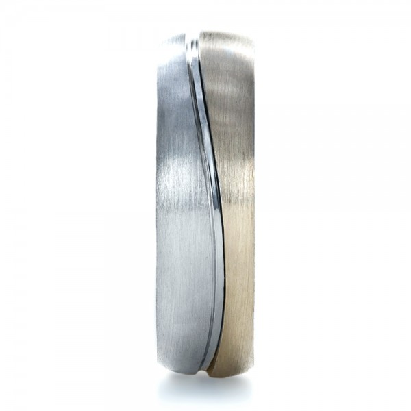 Custom Two-Tone Men's Band - Side View