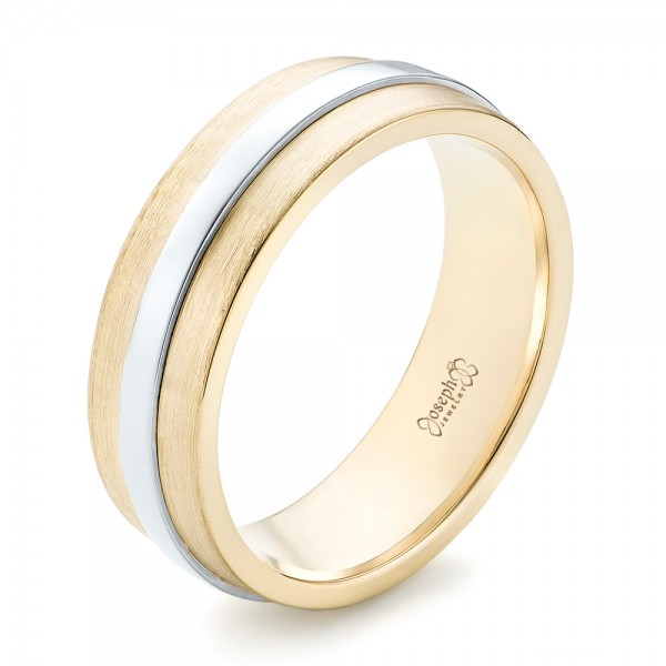 Custom Two-Tone Men's Wedding Band