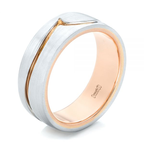 Custom Two-Tone Men's Wedding Band - Image