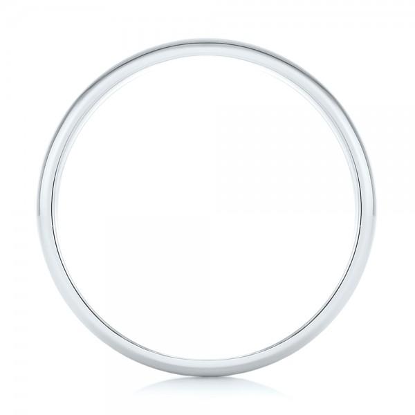 Custom Two-Tone Men's Wedding Band - Finger Through View