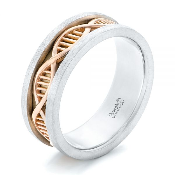Double Helix Two-Tone Wedding Band