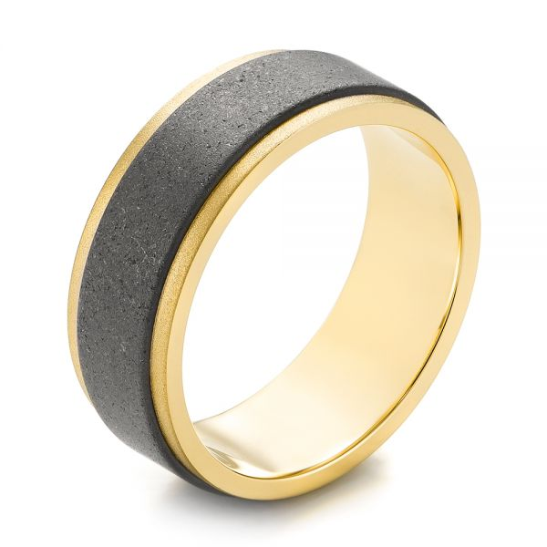 Gold and Tungsten Men's Wedding Band - Image