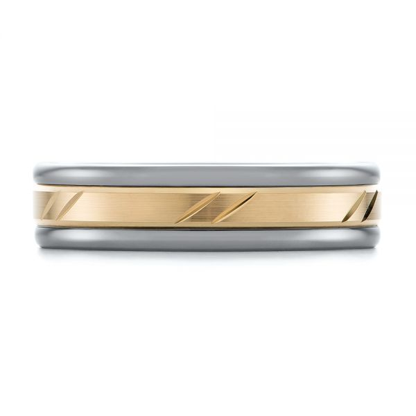 Grey Tungsten Men's Wedding Ring - Top View -