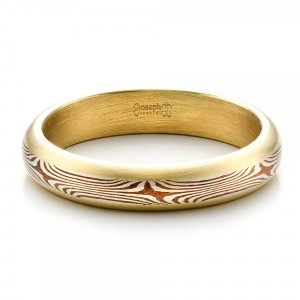 Men's Custom Mokume Wedding Band