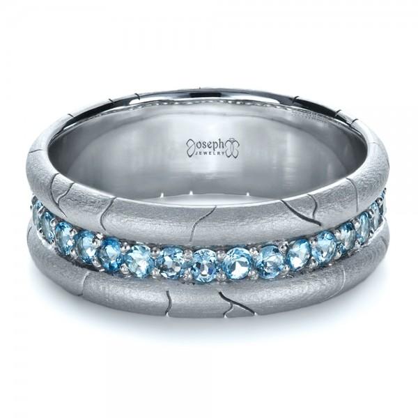 Mens Custom Ring with Aquamarine 1203