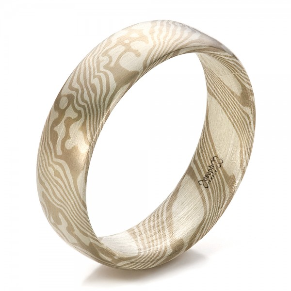 Men's Mokume Half Round Band