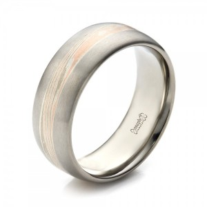 Men's Palladium Mokume Wedding Band