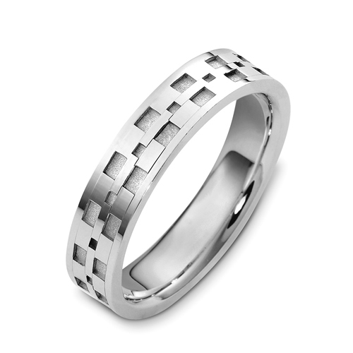 Men's 18k White Gold Band
