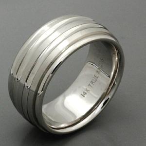 Men's 18k White Gold Band - True Knots