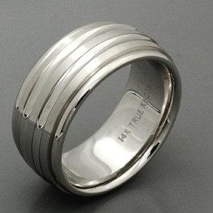 Men's 18k White Gold Band - True Knots
