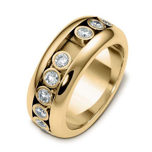 ac7e425451072 Men's 18k White Gold and Diamond Band