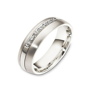 Men's 18k White Gold and Pave Diamonds