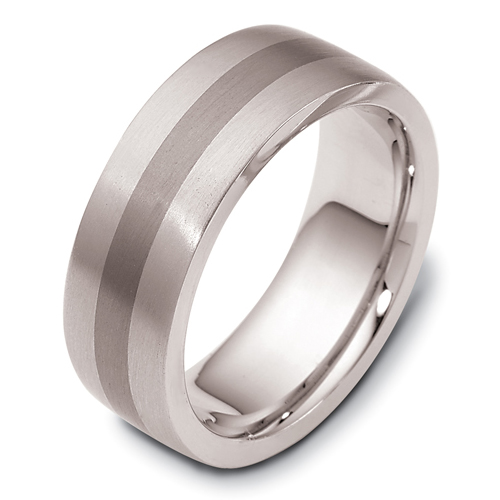 Men's 18k White Gold and Titanium Band