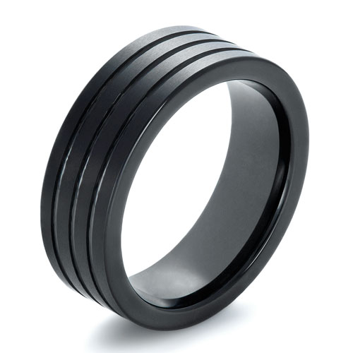 Men's Black Tungsten Ring