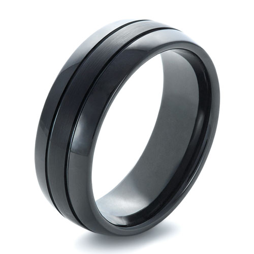 Men's Black Tungsten Ring - Image