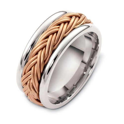 Men's Braided Two-tone Band - Three-Quarter View -