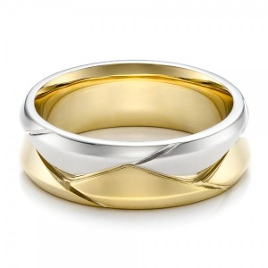 Men's Braided Two-Tone Wedding Band