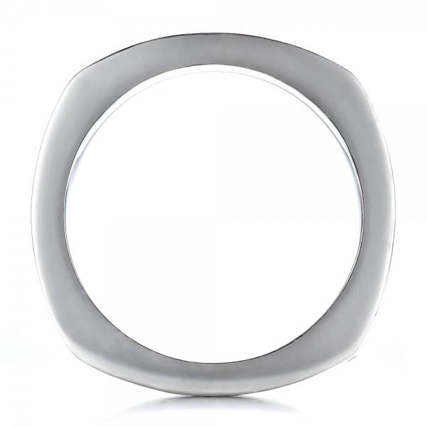 Men's Braided Two-Tone Wedding Band - Finger Through View