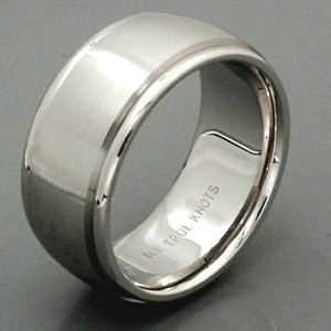 Men's Brushed 18k White Gold Band - True Knots