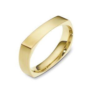 Men's Brushed 18k Yellow Gold Band