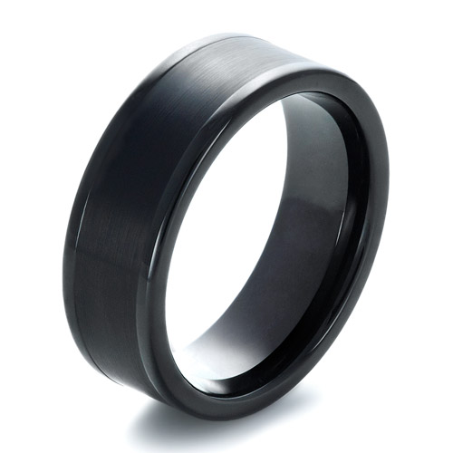 Jewelry › Men39;s Wedding Rings › Men39;s Brushed Black Tungsten Ring