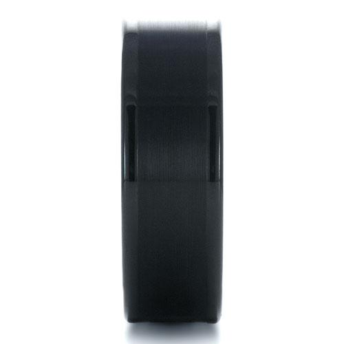 Men's Brushed Black Tungsten Ring - Side View