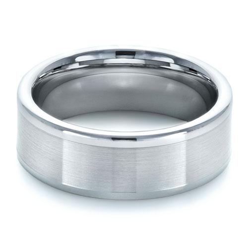 Men's Brushed Tungsten Ring - Laying View