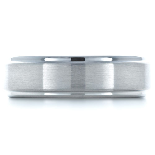 Men's Brushed Tungsten Ring - Top View -