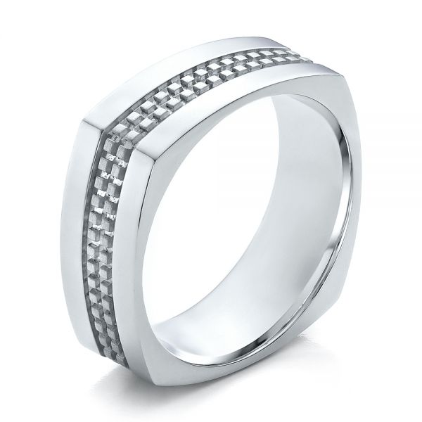 Men's Contemporary Wedding Band - Image