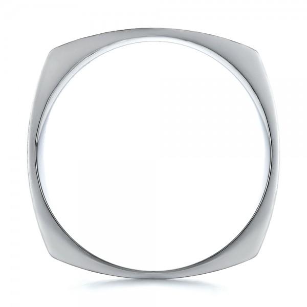 Men's Contemporary Wedding Band - Finger Through View