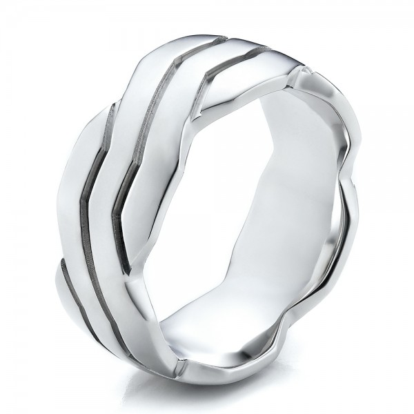 Men's Contemporary Woven Wedding Band