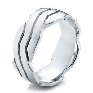 Men's Contemporary Woven Wedding Band - Image