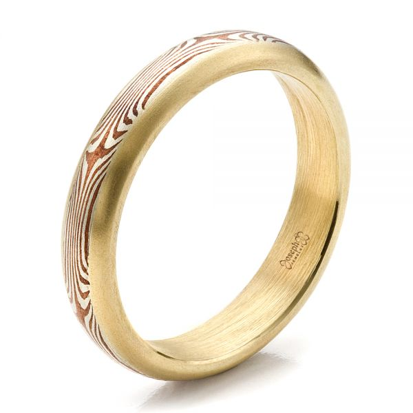 Men's Custom Mokume Wedding Band - Image